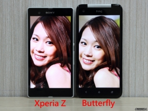 Android: เทียบจอ Xperia Z, Butterfly, iPhone 5, Note 2, S3 ใครแจ่มกว่ากัน!