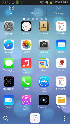 iphone launcher theme it plaza thailand ios 7 iphone theme go launcher พร อม 11981