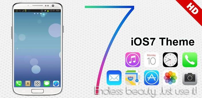 Android: iOS 7 iPhone Theme Go Launcher พร้อมดาวน์โหลดแล้วบน