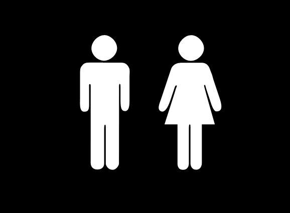 Bathroom man and woman
