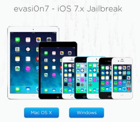 iOS: โปรแกรม evasi0n7 สำหรับ iOS 7 Jailbreak มาแล้วดาวน์โหลดได้ที่นี่!