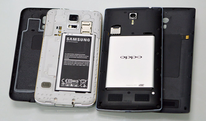 Oppo Find 7 Vs Samsung Galaxy S5 2014