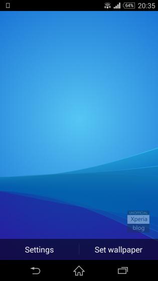 Xperia Z3 Live Wallpaper