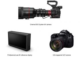Camera : Canon เปิดตัวระบบถ่ายวีดีโอ 8K และเซ็นเซอร์กล้อง DSLR Full Frame 120 ล้านพิกเซล