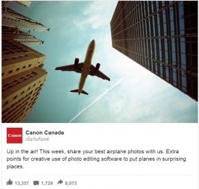 Photography : Canon ล้อเลียน Nikon แรง! เหตุรูปภาพตัดต่อเครื่องบิน