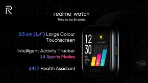 เปิดตัว realme Watch สมาร์ทวอทช์รุ่นแรกของแบรนด์ในประเทศอินเดีย ฟีเจอร์ครบในราคาเพียง 1,690 บาท !!