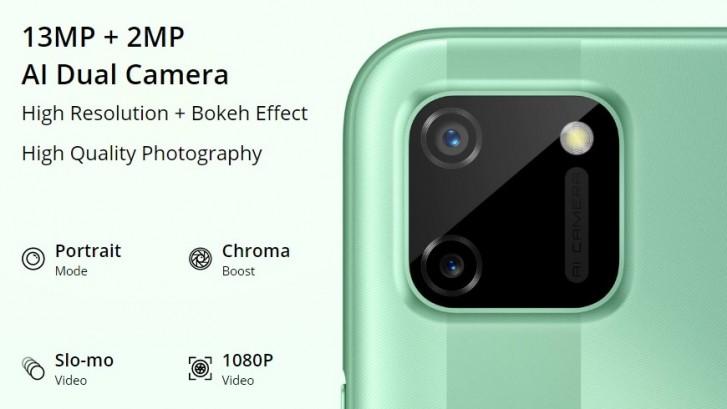 Realme C11 especificações do smartphone, CPU Helio G35, câmeras ...