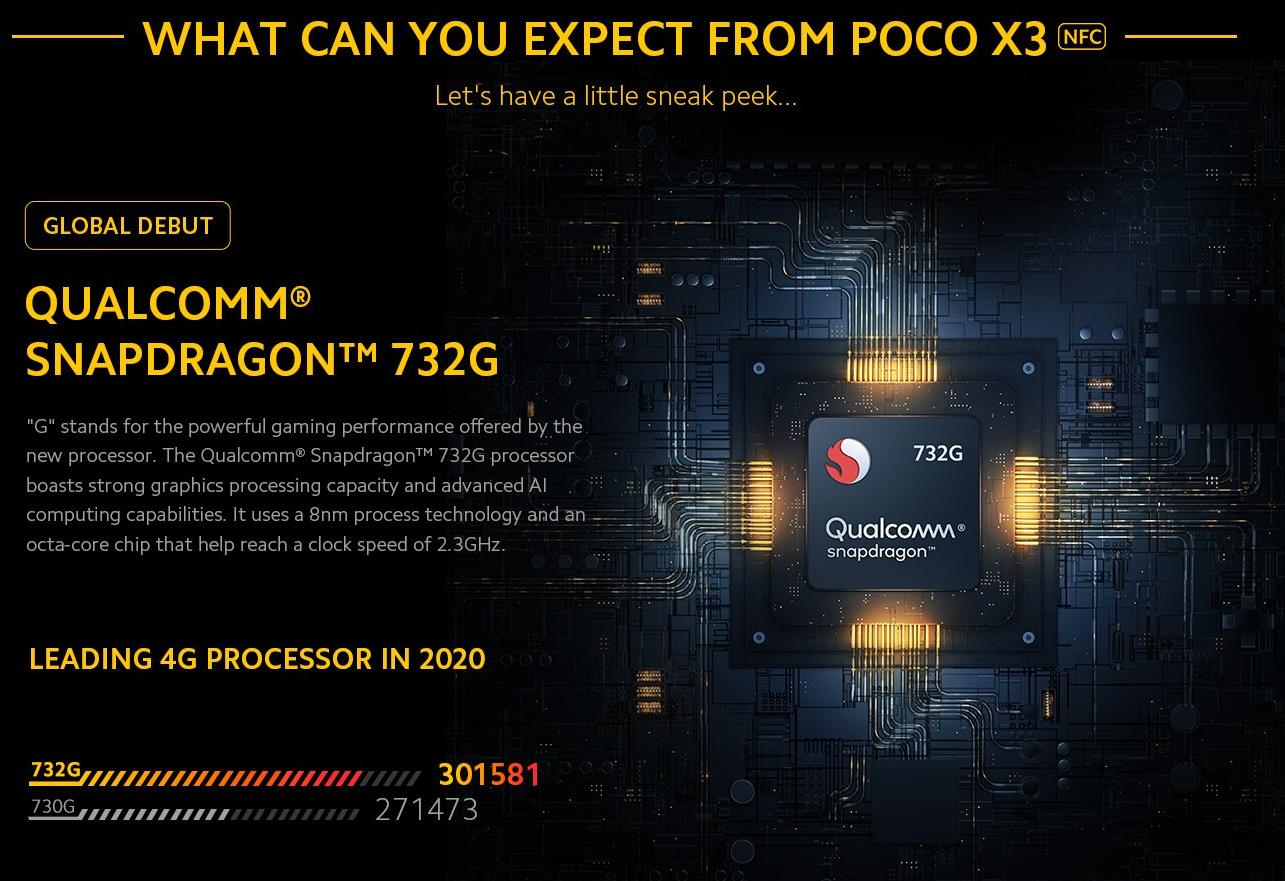 La versión NFC de Poco X3 se lanzará el 7 de septiembre, pantalla de 120Hz, cámara de 64MP y chip Qualcomm 732G