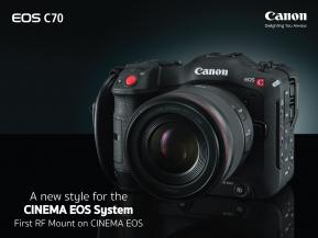 Camera : แคนนอน เผยโฉม กล้อง EOS C70  กล้องถ่ายภาพยนตร์ที่มาพร้อมเมาท์ RF รุ่นแรกในตระกูล Cinema EOS