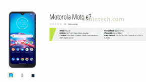 หลุดสเปคพร้อมภาพ Moto E7 มือถือราคาประหยัดจากร้านค้าออนไลน์ คาดจ่อเปิดตัวในเดือนนี้