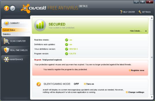 Avast free antivirus ลบ