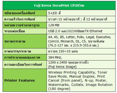 fuji xerox docuprint cp205w manual